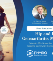 Upcoming Seminar- Hip & Knee Osteoarthritis